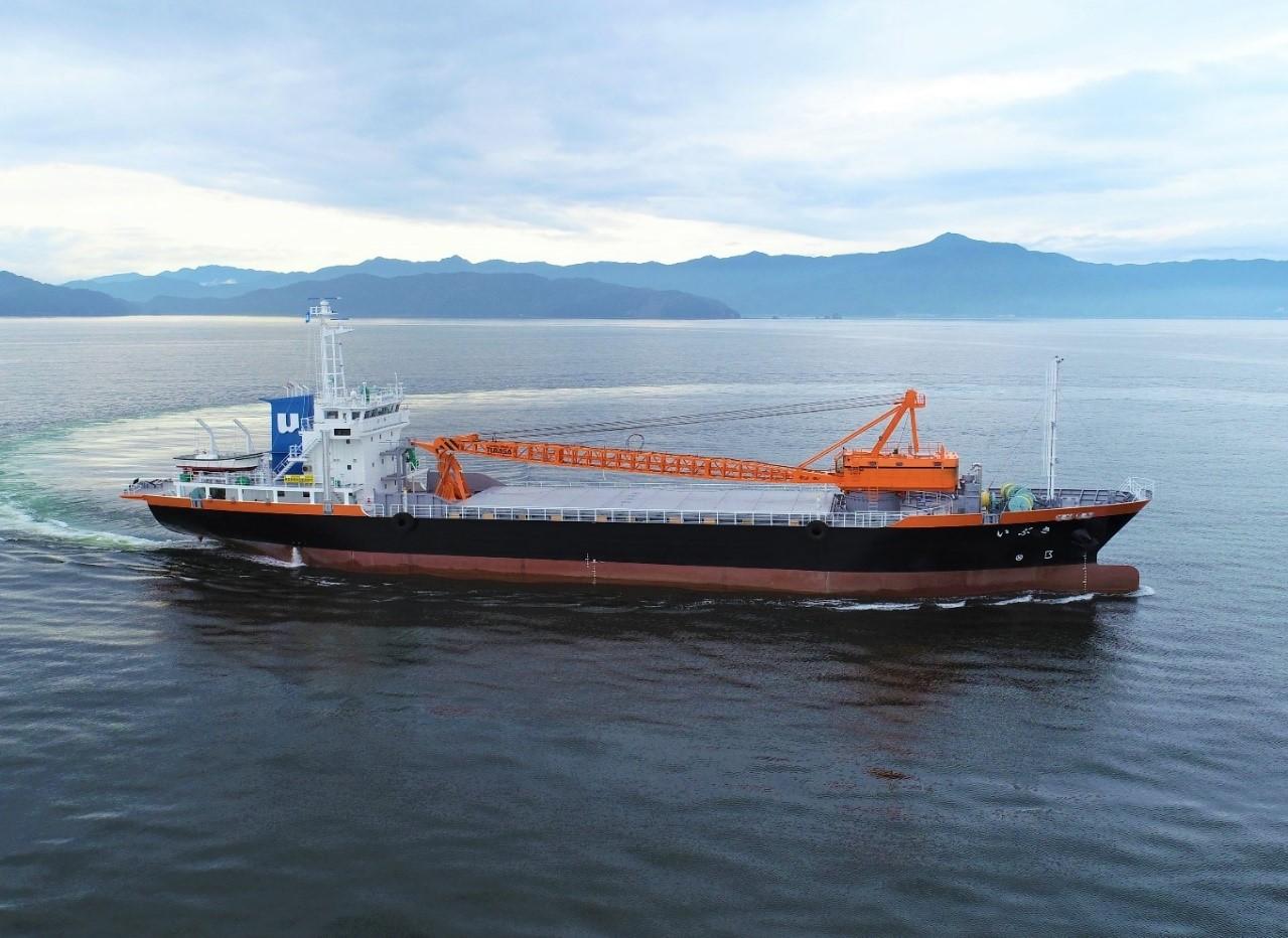 バイオマス燃料の輸送船「いぶき」竣工